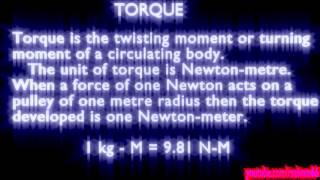 what is torque ? torque definition
