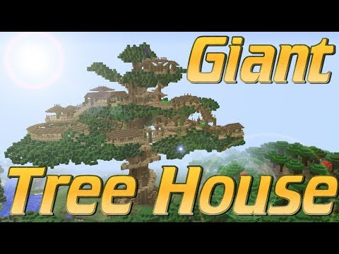 Minecraft How to Build a Tree House in Minecraft | A Giant Tree Village Tutorial | Epic Lets Build