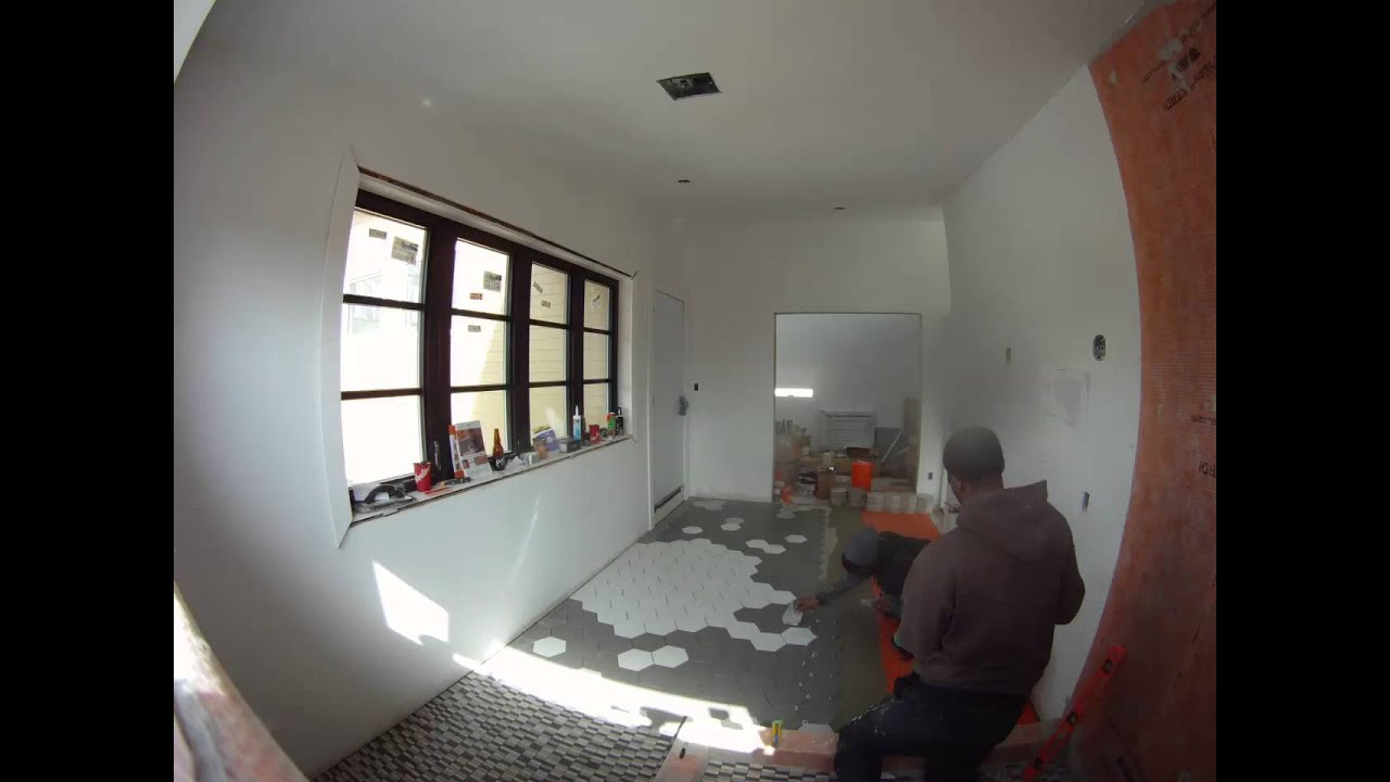 The dreamhouse project installing a hex tile floor youtube dailygadgetfo Images