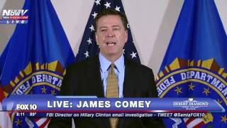 FBI Director James Comey Makes Statement About Hillary Clinton Email Scandal - FULL SPEECH - FNN