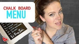 DIY Chalk Menu Board!   Tay from Millennial Moms