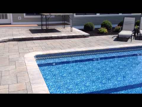 Complete Pool Patio and Outdoor Kitchen Project Newbury MA