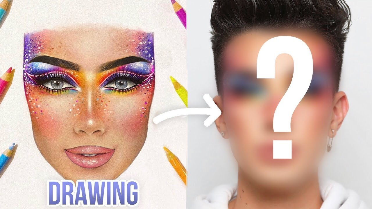 Recreating my follower   makeup facecharts james charles also youtube rh