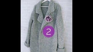 вязаный кардиган крючком ,вязаное пальто крючком на любой размер для начинающих