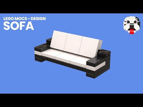 Lego Mocs Design Mini Lego Sofa Model Video