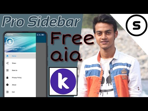 How to create Professional Sidebar in Kodular | Kodular Side Menu