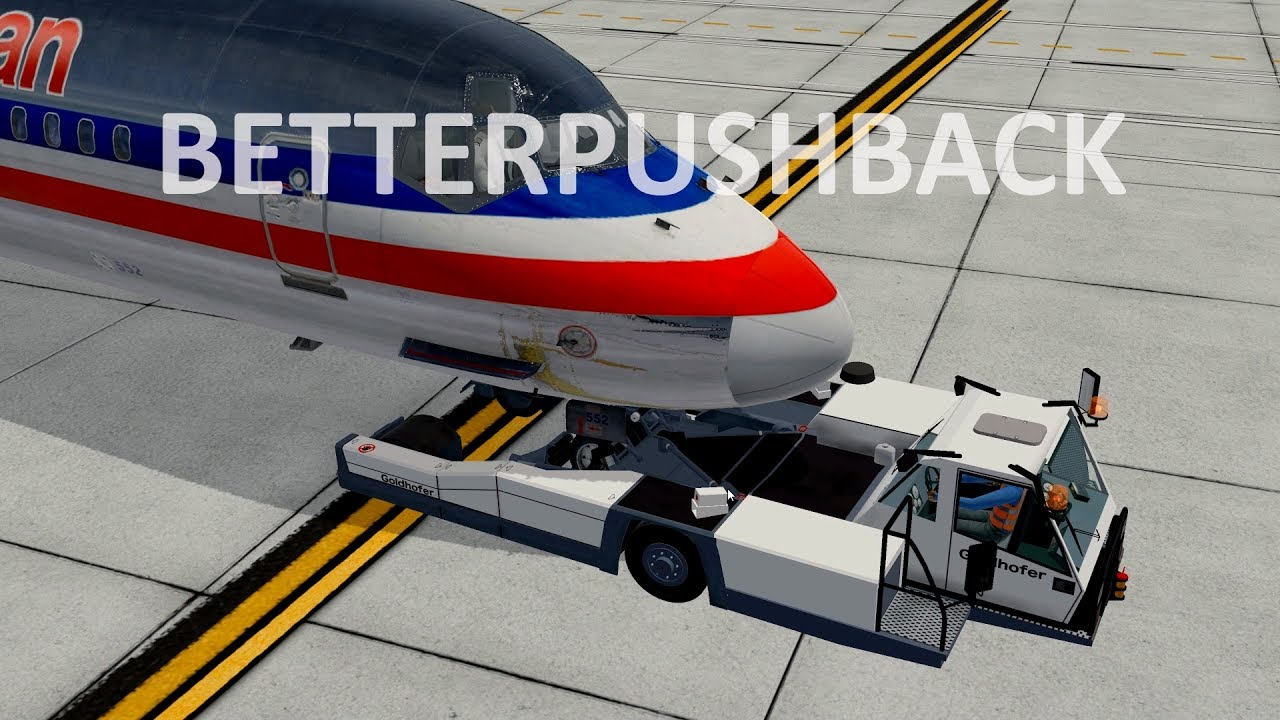 x plane 11 best freeware pushback plugin betterpushback beta flightsim planet. Black Bedroom Furniture Sets. Home Design Ideas