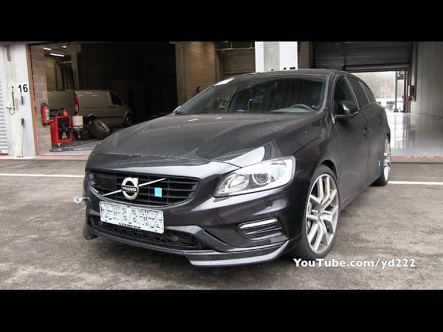 Volvo V60 Polestar Loud Sounds On Track Youtube