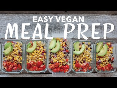 EASY VEGAN MEAL PREP FOR THE WEEK | The Edgy Veg