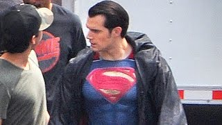 New Superman Outfit Spotted On Batman v Superman Set