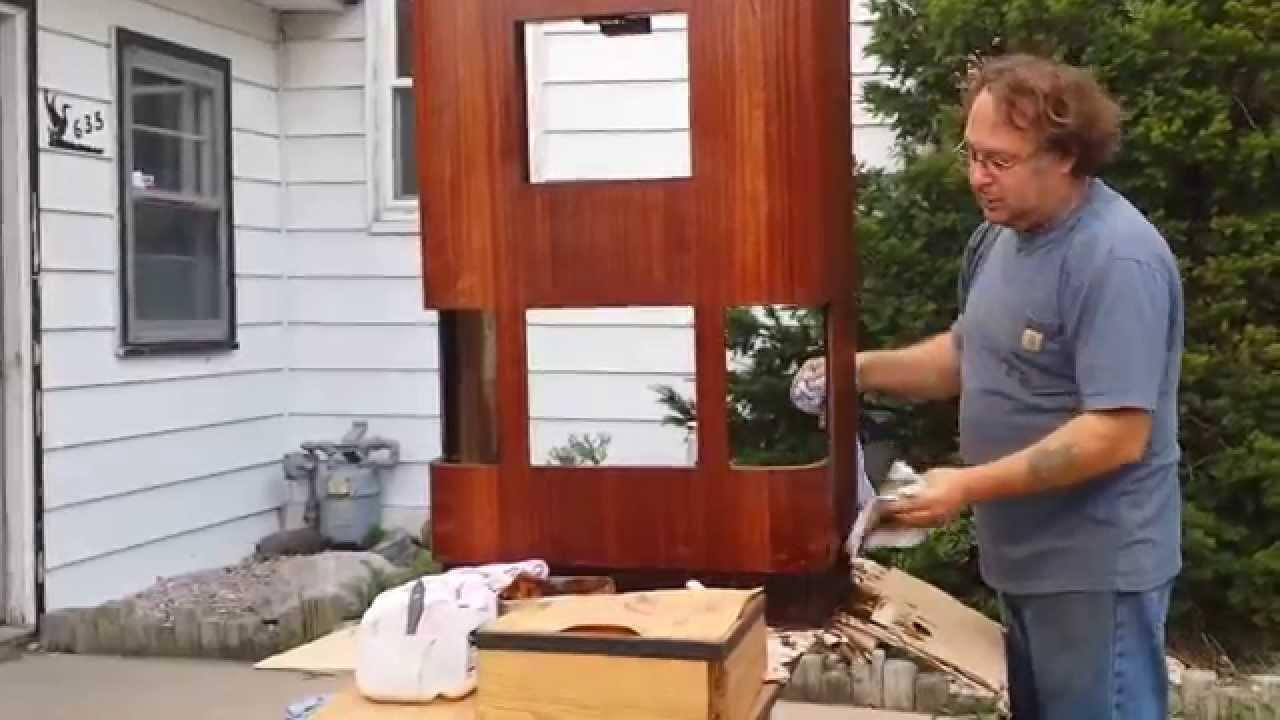 refinishing a sparton 1476 triolian console radio cabinet timeless arts  refinishing - Refinishing A Sparton 1476 Triolian Console Radio Cabinet Timeless