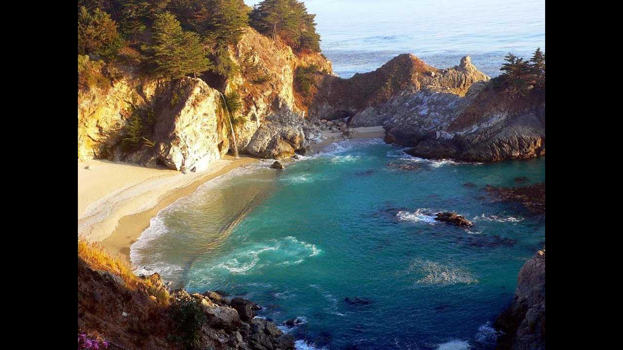 Windows 10 Fall Usa Wallpapers 4k Relaxing 3 Hour Video Of A Waterfall On An Ocean Beach At