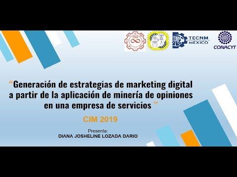 (431) Generación de estrategias de marketing digital a partir de la aplicación de minería de opi...