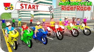 Bike Racing Games - Kids MotorBike Rider Race 3D - Gameplay Android free games