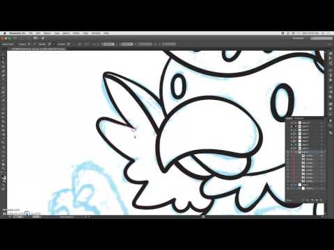 Download How To Ink A Drawing In Adobe Illustrator Blob Brush Tool