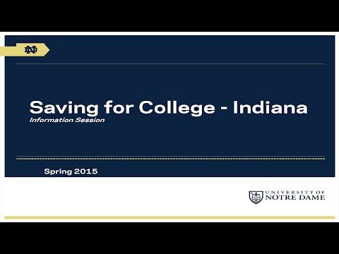 University of Notre Dame Saving for College Program: Indiana Webinar