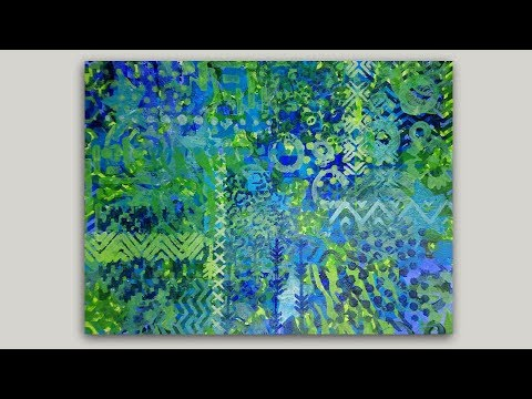 EASY and FUN Abstract Painting with Stencils and Acrylics