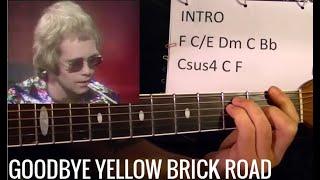 Goodbye Yellow Brick Road - Elton John - Guitar Lesson