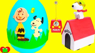 The Peanuts Movie Snoopy and Charlie Brown Play Doh Surprise Egg