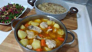 Sebzeli Tavuk Haşlama İle 30 Dakikada Akşam Yemeği Menüsü👉Seval Mutfakta