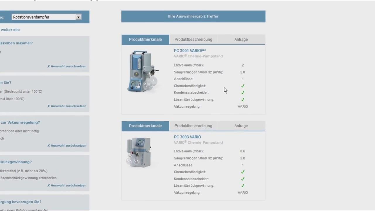 Finden Sie die richtige Vakuumpumpe für Ihre Anwendung - Vacuum Pump  Selection Guide (DE)