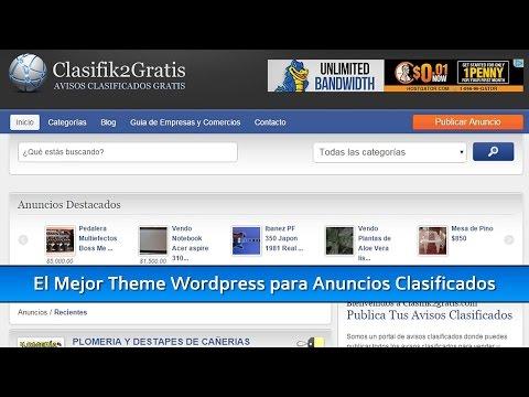 Los Mejores Temas Wordpress para Anuncios Clasificados