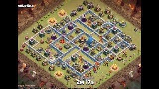 Clash of Clans - TH12 Giants Bowitch Strategy vs TH12 Base