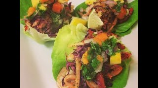 Shrimp Tacos With Jicama Slaw Mango Papaya Salsa