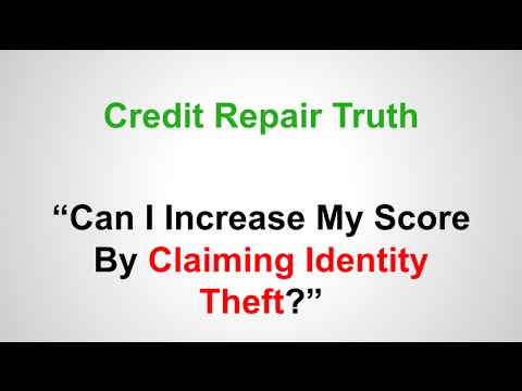 can i claim identity theft to increase my credit report. Black Bedroom Furniture Sets. Home Design Ideas