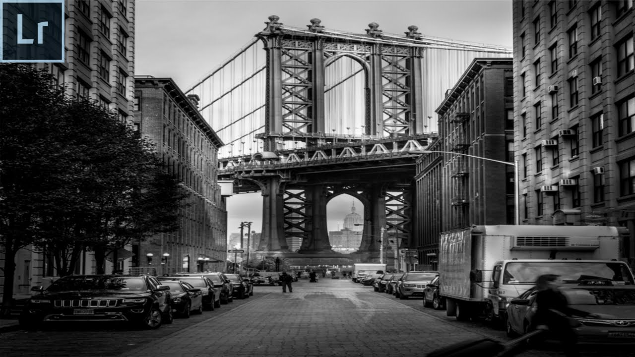 Black And White Street Photography Editing In Lightroom 6 2016 The Brooklyn Bridge Youtube