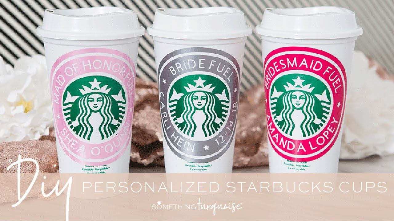 Personalized Starbucks Cups With Cricut Youtube