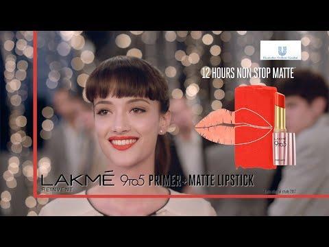 Lakmé 9to5 Primer + Matte Lipstick -Marathi