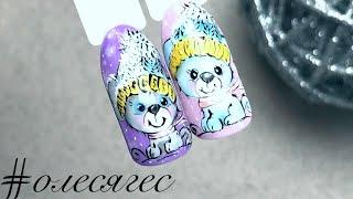 Собака на ногтях Дизайн ногтей Роспись гель лаками Patrisa Nail 2018
