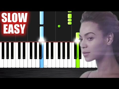 Beyoncé - Halo - SLOW EASY Piano Tutorial by PlutaX