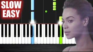 Beyoncé - Halo - SLOW EASY Piano Tutorial by PlutaX