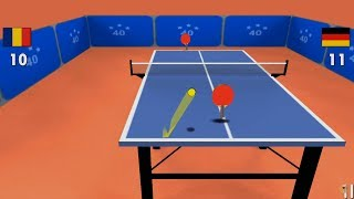 PING PONG ( TABLE TENNIS) 3D GAMEPLAY - VERY GOOD COMEBACK, 13-11 WIN