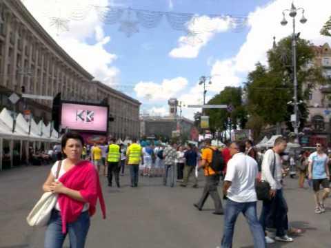 Евро 2012, Киев, Крещатик, 8 июня