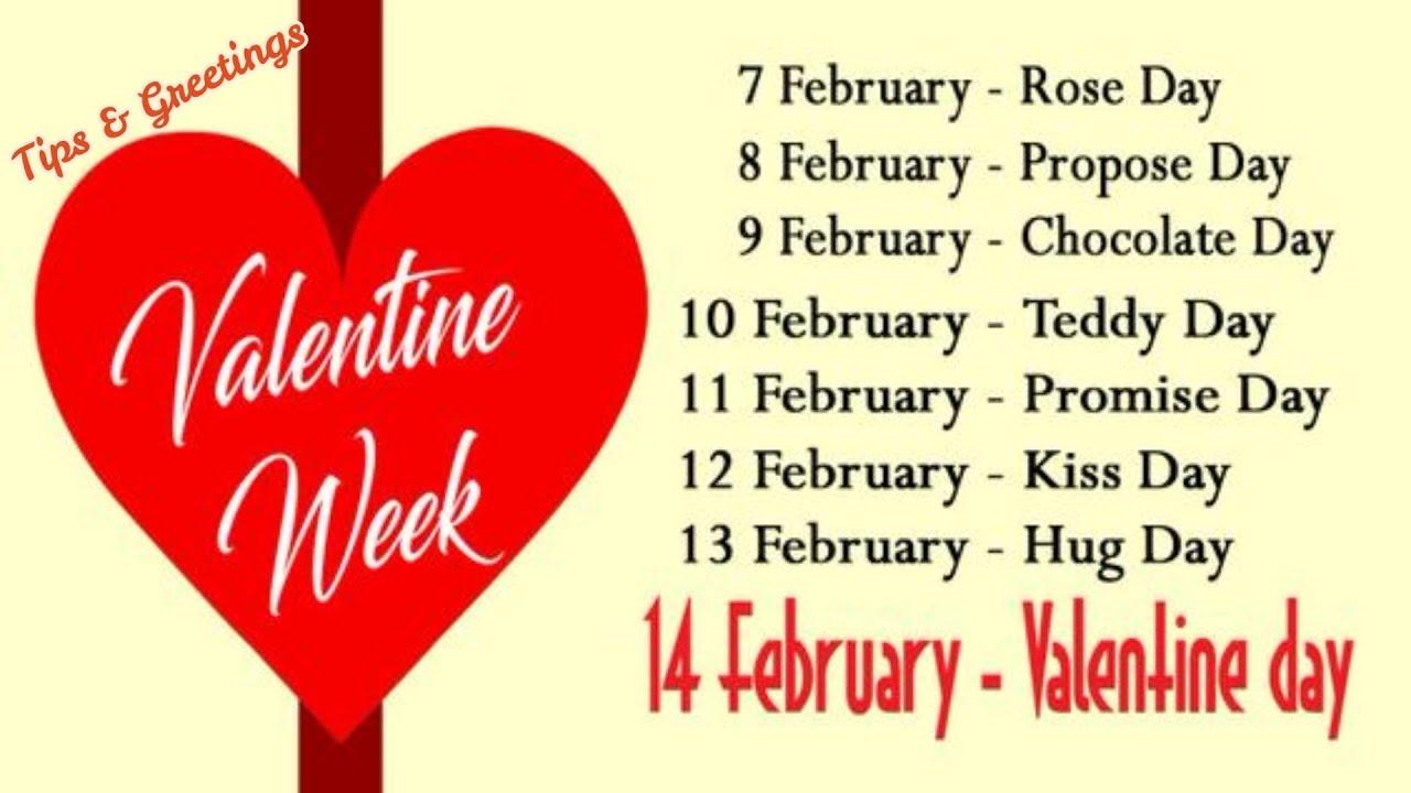 Valentine Week List 2018 Valentine Week List Calendar Schedule
