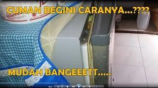cara memperbaiki pintu kulkas yang tidak rapat LENGKAP