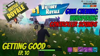 ASMR Gaming: Fortnite | Gum Chewing, Whispering, Controller Sounds - Getting Good Ep 10.