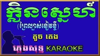ក្លិនស្នេហ៍ (ព្រៃល្បាស់ខៀវខ្ចី) - Khlen Sne - ភ្លេងសុទ្ឋ Karaoke ( បទប្រុស)