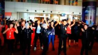 Visit Malaysia Year 2014 Flash Mob @ Kuching Int. Airport - JKKN Sarawak & Tourism Malaysia Sarawak