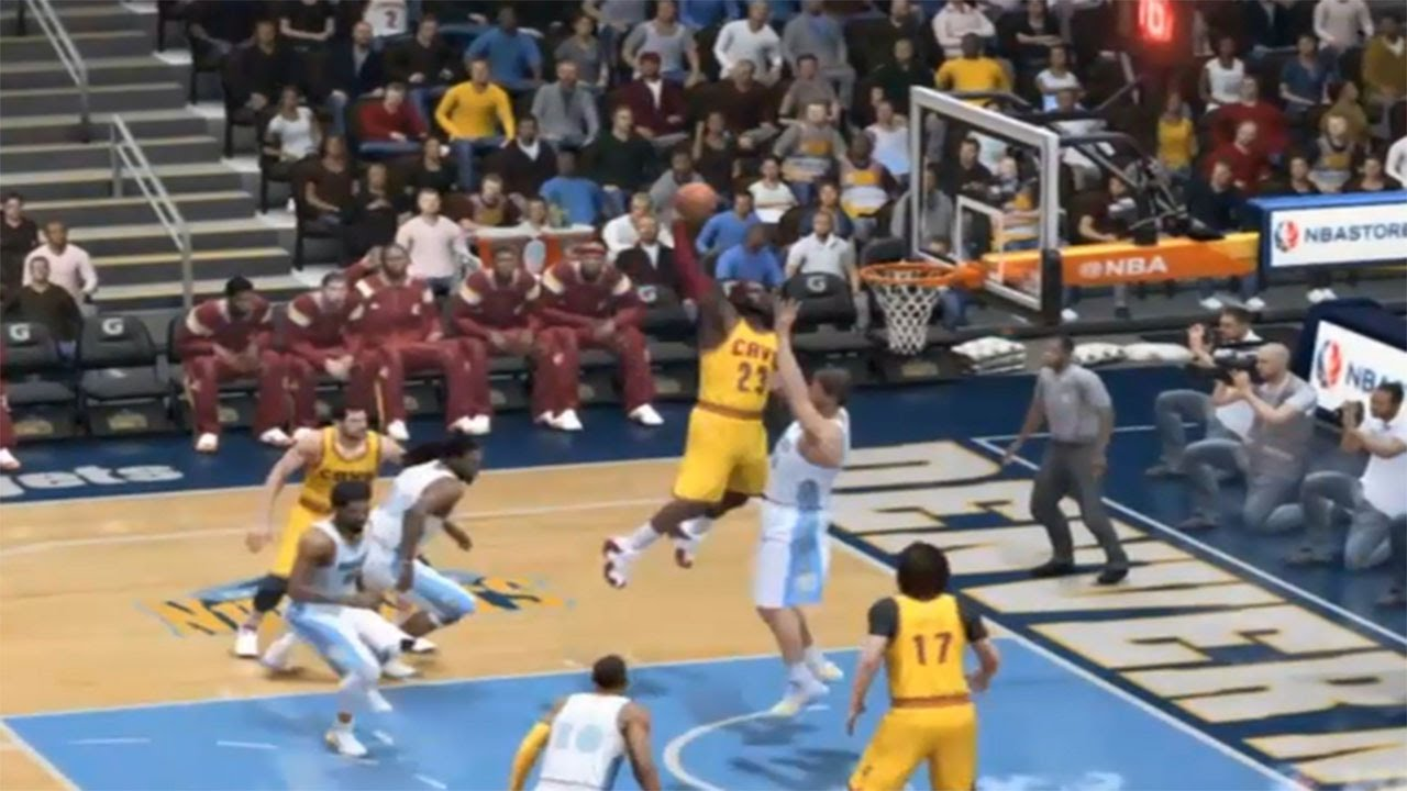 NBA LIVE 15: LEBRON JAMES CRAZY DUNK!!! - YouTube