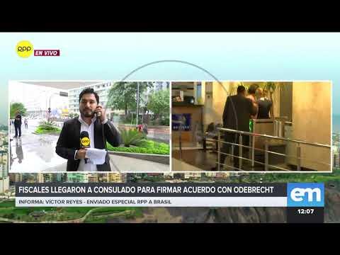 Odebrecht: Fiscales José Domingo Pérez y Rafael Vela llegaron a consulado para firmar acuerdo