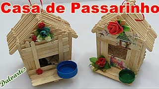 Como Fazer Casa De Passarinho com Palitos de Picolé