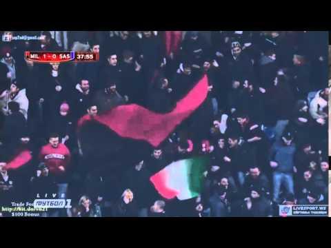 Giampaolo Pazzini Goal - AC Milan vs Sassuolo 1-0 - (Coppa Italia) 2015
