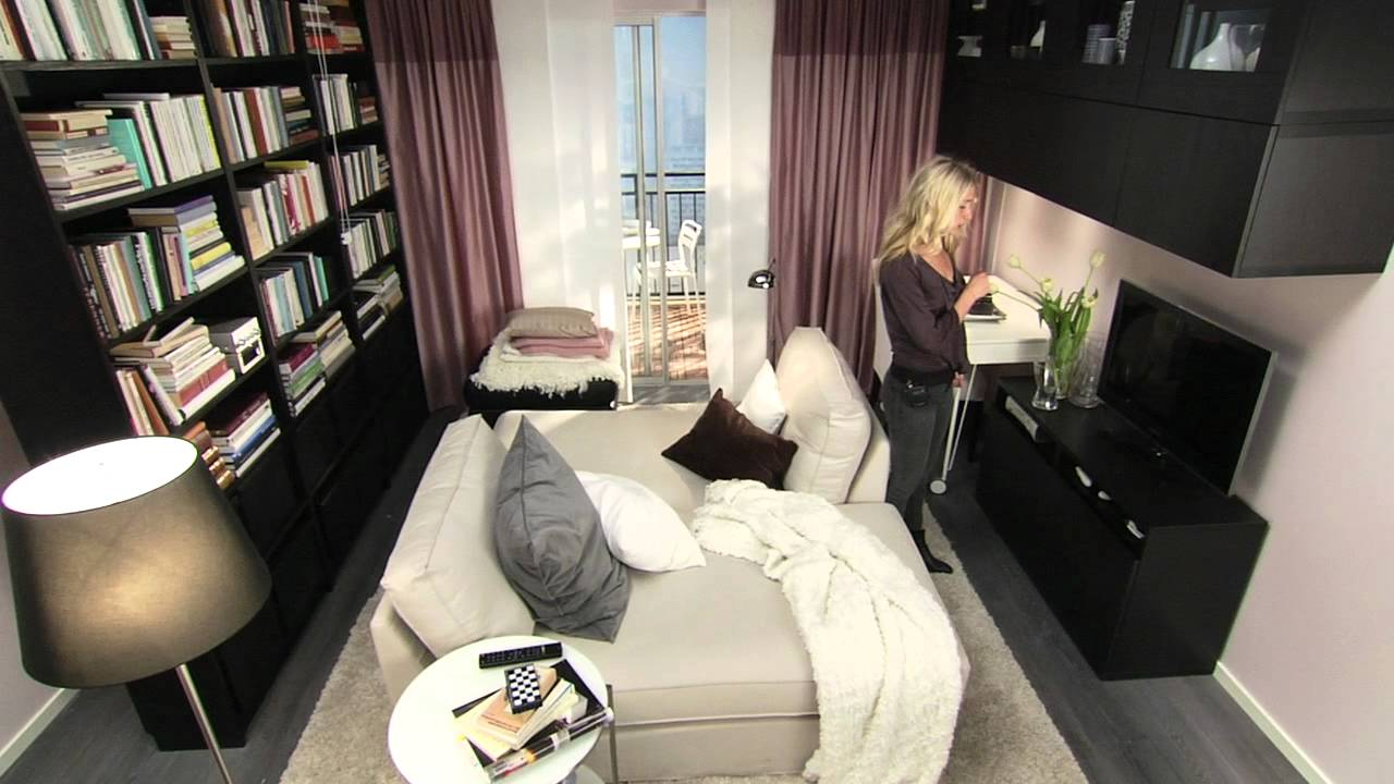 Ikea small spaces making space to be together in a small apartment youtube - Ikea small living space ideas ...
