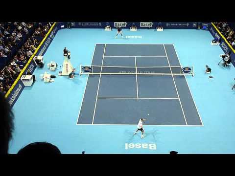 Brilliant point Marcos Baghdatis Basel Tennis 2013