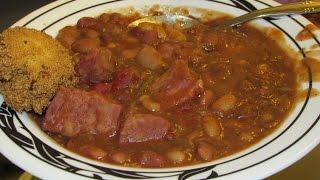 Cajun Ham Bean Soup & Caprese Salad