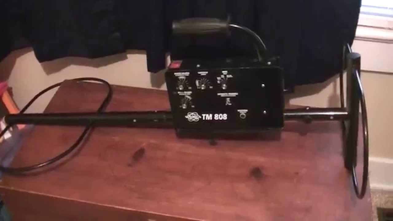 metal detector 4 sale white 39 s tm 808 ground penetrating type youtube. Black Bedroom Furniture Sets. Home Design Ideas